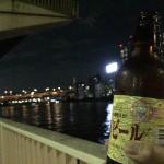 浜町「ヤマザキショップ上総屋」コンビニ角打ちと夜景が望める隅田川のほとりで