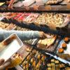 山口-下関「唐戸市場」海鮮グルメパラダイスに心躍る!海鮮屋台がずらりと並ぶ市場で朝飲み