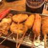 高松-片原町「韋駄天」キリン大瓶365円・串揚げ95円~!昼飲みできる瓶ビール&串揚げ酒場