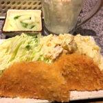 品川「日向食堂」19時までのチョイチョイセット1000円で一杯!賑わう串揚げ立ち飲み