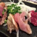 【移転】高田馬場「炎天下(立ち飲み)」鶏刺し3点盛りでお得なメガ角ハイをグビっと!安ウマで人気の立ち飲み