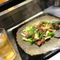 福島-会津若松「皆川食肉店」美味しいホルモン焼き400円で一杯!味わい深い肉屋の鉄板焼き酒場