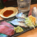 上野「回転寿司 江戸ッ子」濃さが選べる緑茶ハイでほろ酔い!昼飲み・一人飲みも気軽な回転寿司